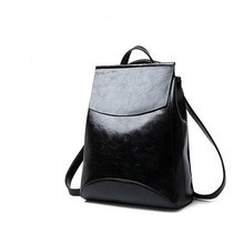 2019 New Style Shoulder Bag Female Soft Leather Backpack Korean Version College Multifunctional Leisure