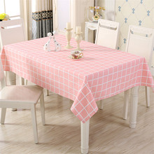 Pink Plaid Cotton Table Cloth Rectangle Tischdecke Cover Waterproof Round Tablecloth Cartoon For Home Decor