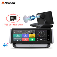 TOPSOURCE видеорегистратор автомобильный gps Камера 7,84 4 г ADAS gps навигации HD 1080 P Android 5,1 видео Регистраторы Двойной объектив bluetooth Камера 1 г Операт