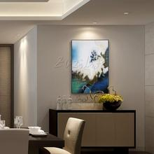 Modern abstract Gold Line Landscape Acrylic Oil Painting hand painted for Living room decorative oil painting Home Decoration