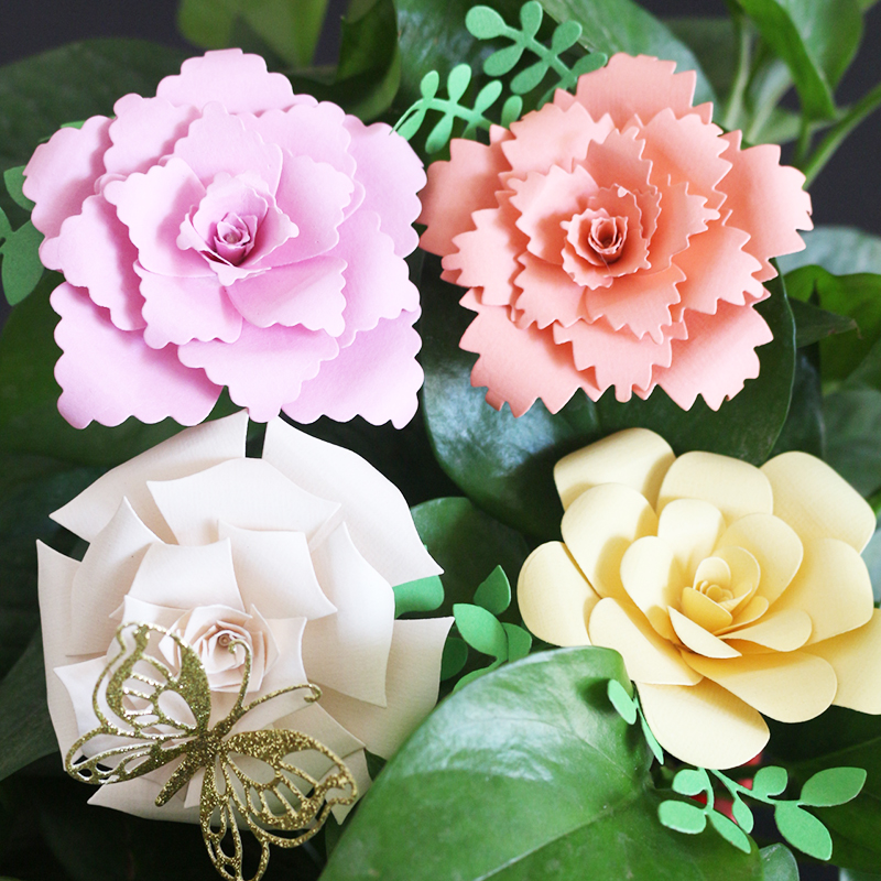 AZSG Different Style Rose Flowers Cutting Die for DIY Scrapbooking Decoretive Embossing Stencial DIY Decoative Cards die cutter in Cutting Dies from Home Garden