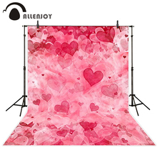 Allenjoy photo background Pink red hearts love wedding lover marriage gift photo booth camera fotografica profissional
