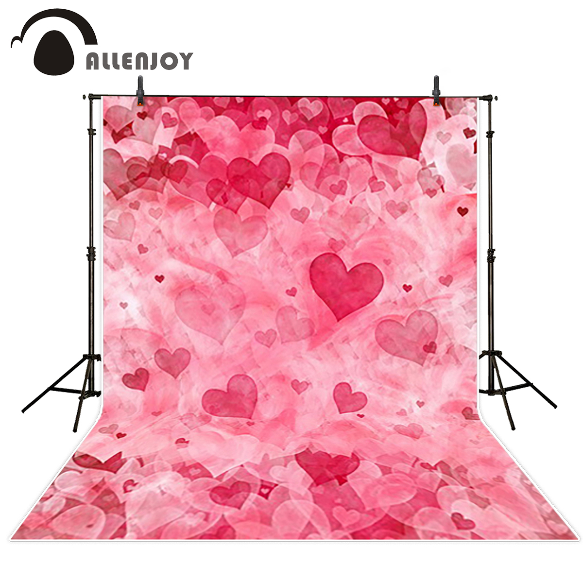 Allenjoy photo background Pink red hearts love wedding lover marriage gift photo booth camera fotografica profissional allenjoy photography backdrops love white wood board floor red hearts branches valentine s day wedding photo booth profissional