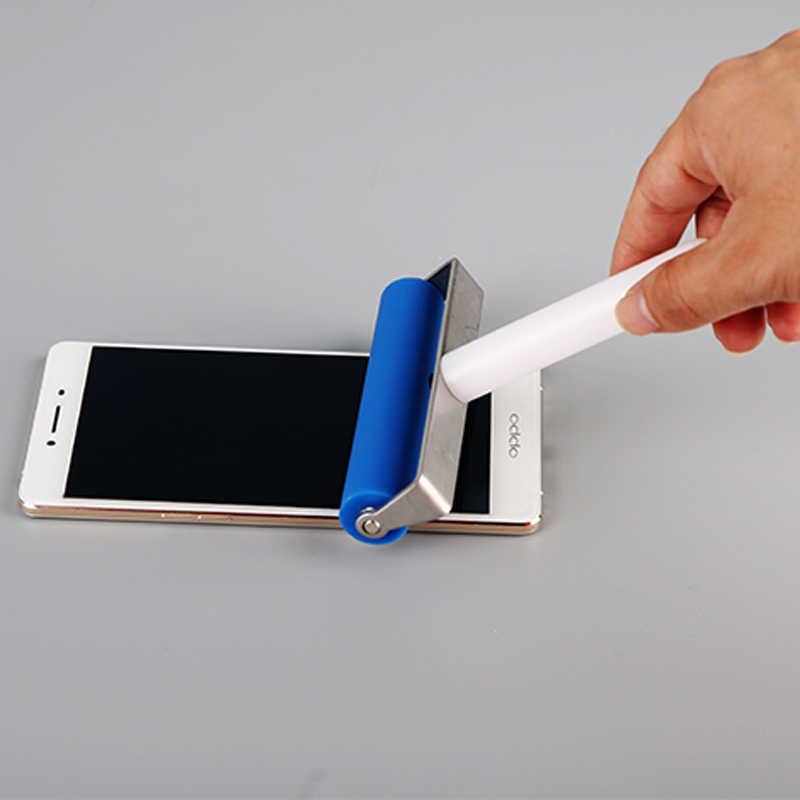 1 Buah 10 Cm Biru Universal Roller Silikon Karet Lembut Ponsel Alat Perbaikan Laptop Film Menempelkan LCD Oca
