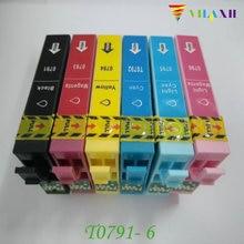 T0791 - T0796 Ink cartridge For Epson Stylus Photo 1400 1410 PX660 P50 PX650 PX700W PX710W PX720WD PX730WD PX810FW Printer