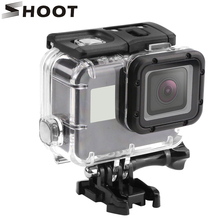 SHOOT 40M Underwater Waterproof Case for GoPro Hero 5/6/7 Black Go Pro Hero 6/7 Sport Camera Diving protective Housing Accessory high quality waterproof housing case for gopro hero 5 6 action camera hero 5 6 black edition