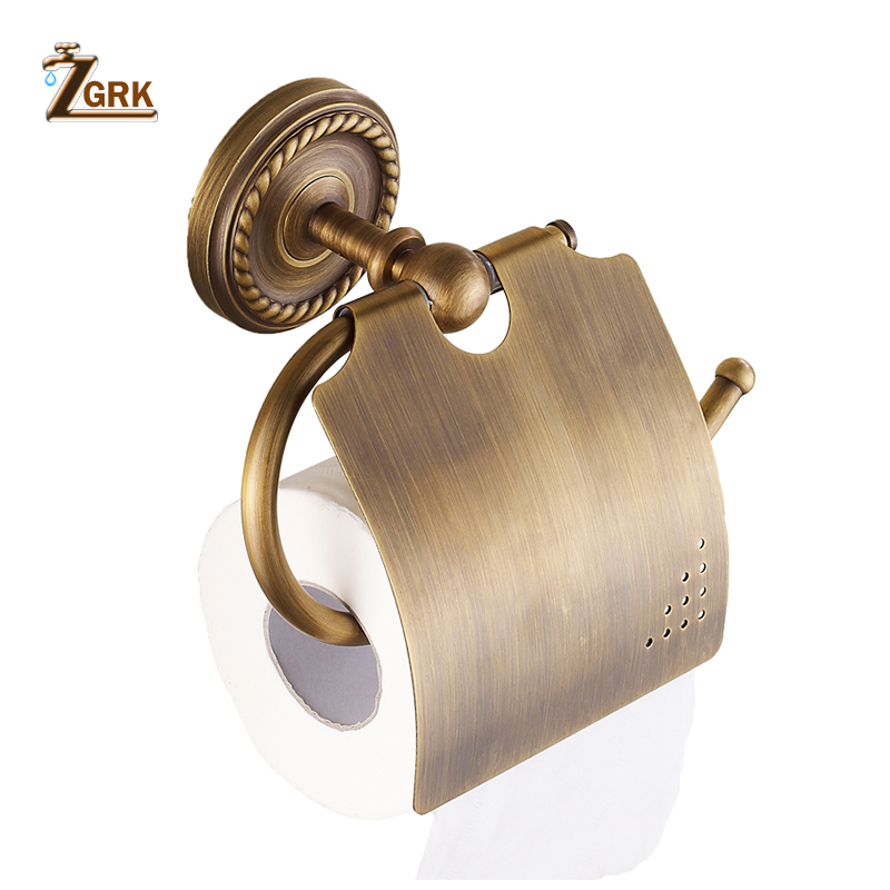 ZGRK Paper Holders Solid Brass Gold Paper Roll Holder Toilet Paper Holder Tissue Holder Restroom Bathroom AccessoriesZGRK Paper Holders Solid Brass Gold Paper Roll Holder Toilet Paper Holder Tissue Holder Restroom Bathroom Accessories