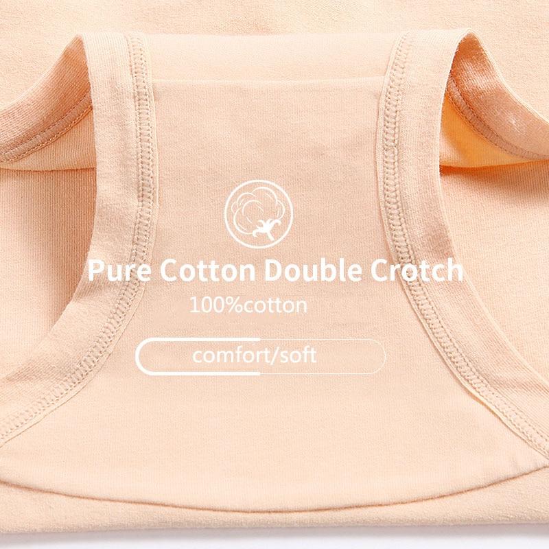 LANGSHA 5Pcs/lot Women Panties High Waist Pure Cotton Underwear Cute Printed Seamless Briefs Ladies Slimming Panty Plus SizeXXL