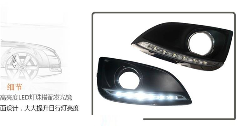 2010~ ix45 Дневной светильник, tucson, santa fe, к вашей двери! акцент, светодиодный, ix45 противотуманный светильник, 2 шт./компл.; solaris; ix35 - Цвет: ix35