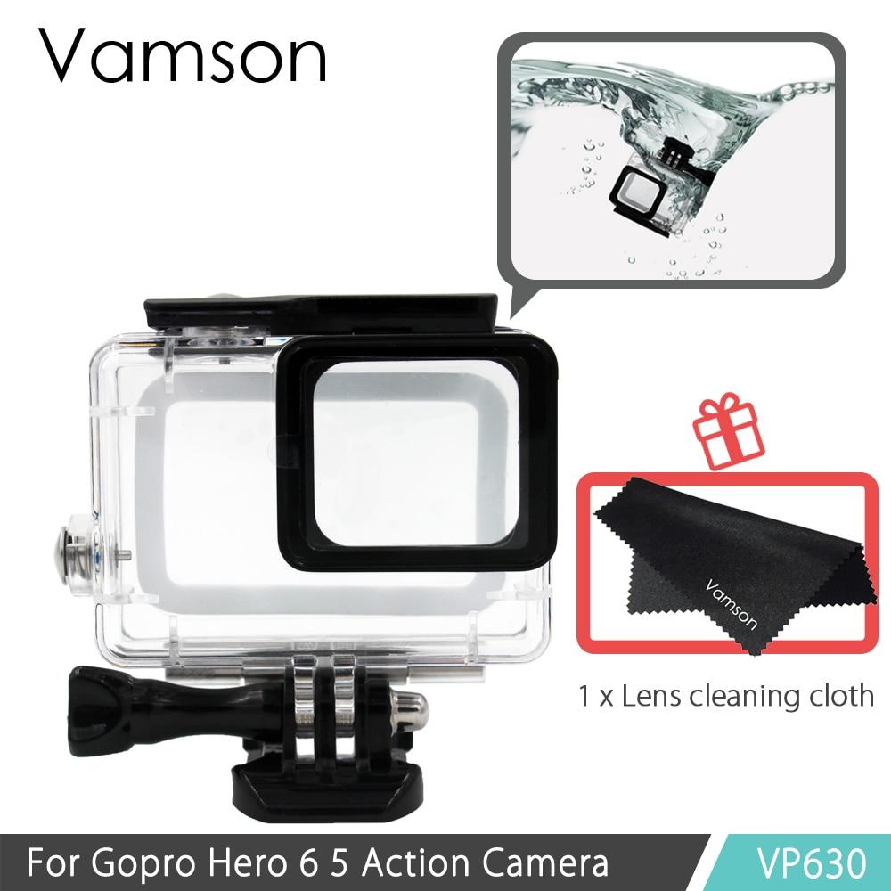 Vamson para Gopro Hero 6 5 Acessórios Caixa de Proteção À Prova D' Água caso Mergulho 45 M de Proteção Para Gopro Hero 6 5 Camera VP630