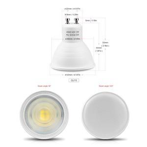 Image 2 - 10ピース/パックGU10 led電球7ワットac 220v ledランプledスポットライト120/ 30度ビーム角度bombillas天井凹部照明