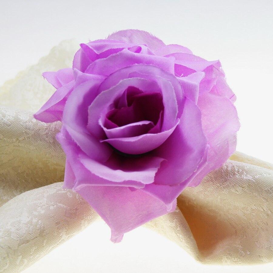 free shipping handmade double silk flower napkin ring napkin holder ...