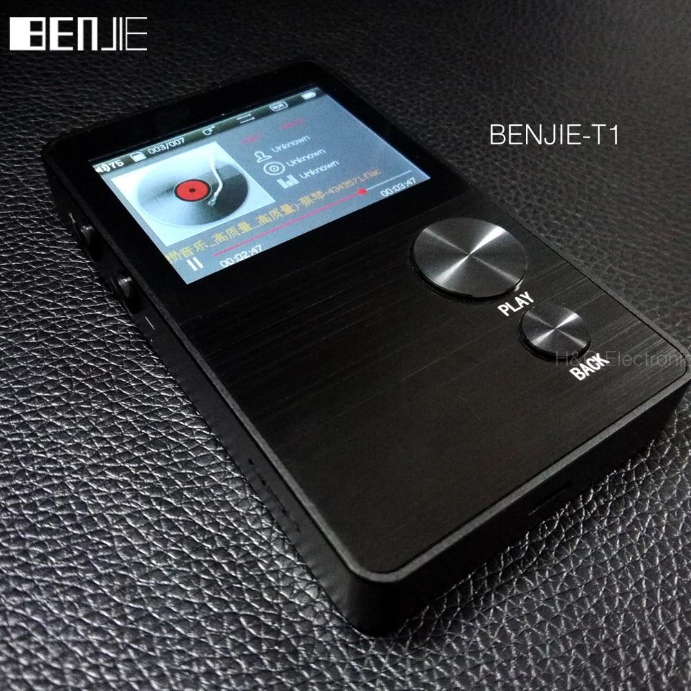 Original BENJIE T1 16GB HiFi Portable Lossless APE FLAC MP3 Player 2 4 Inches Screen Digital