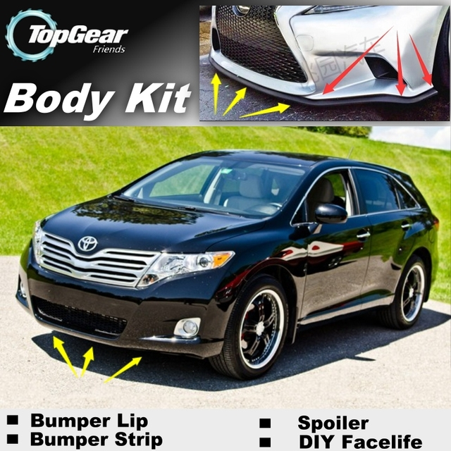 Us 3582 8 Offfor Toyota Venza 20082015 Bumper Lip Front Spoiler Deflector For Topgear Friends Car View Tuning Body Kit Strip Skirt In Front