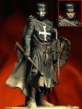ใหม่ประกอบ 1/18 90 มม. โบราณ Crusades FUGURES ตัวเลขเรซิ่นชุดของเล่น DIY Unpainted ชุด