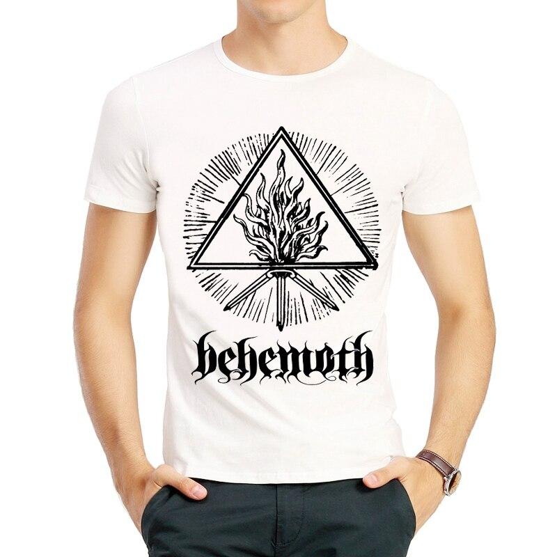 New Coming Mens Behemoth   T  -  Shirt   Summer Fashion Short Sleeve White Behemoth   T     Shirt   Top Tees tshirt For Men Casual   T  -  shirt