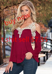 Sexy-Off-Shoulder-T-shirt-Women-V-Neck-Lace-Crochet-T-shirt-Plus-Size-Tee-Shirt