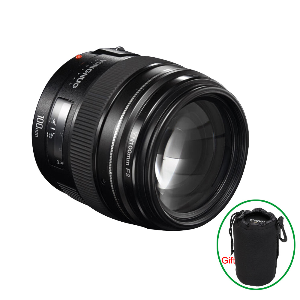 Yongnuo YN100mm F2 Moyen Téléobjectif Premier Objectif Pour Canon EOS Rebel Caméra AF MF Lentilles