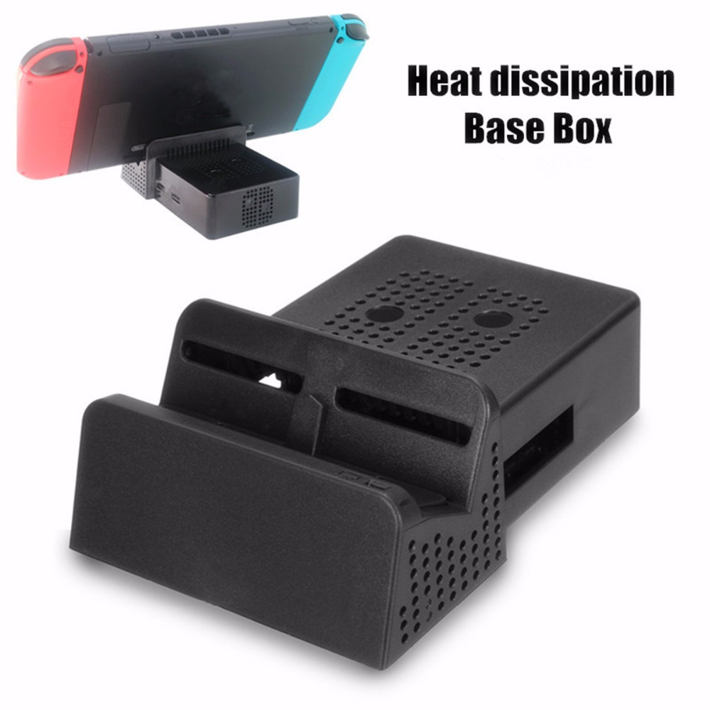 Modified Cooling Dock Case TV BoxBlack Portable Replacement DIY For Nintendo Swicth Accessory with USB portsWithout IC Circuit