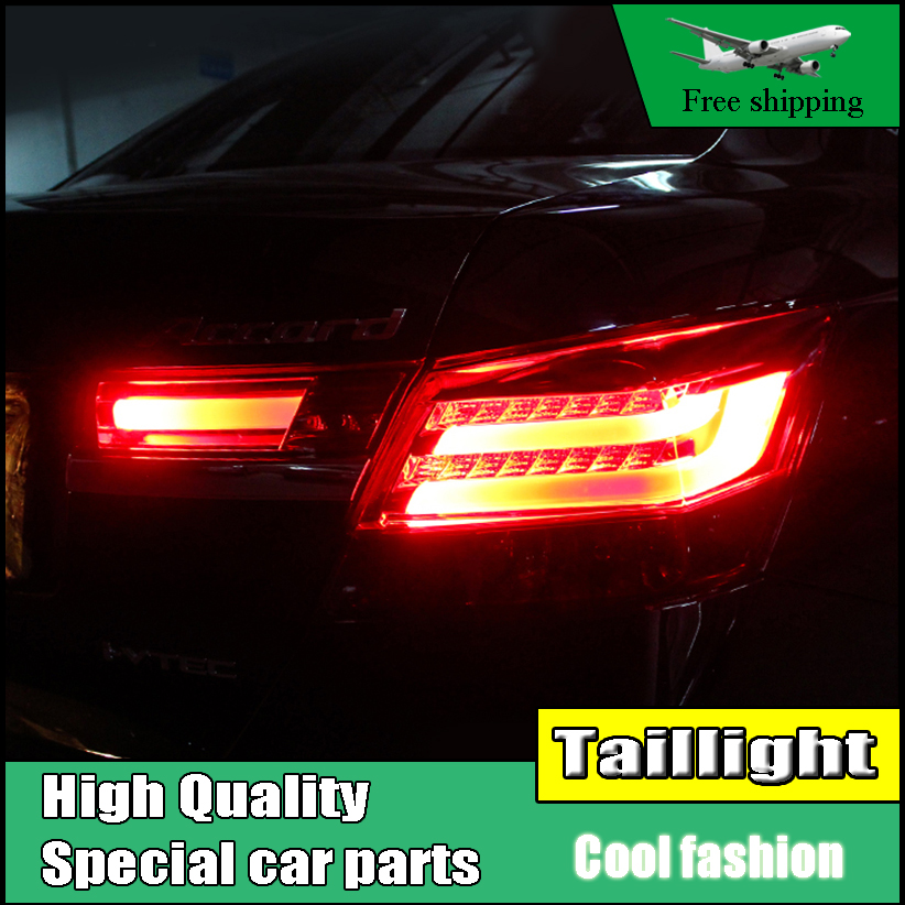 Car Styling For HONDA Accord 8 2008-2012 Taillights LED Tail Light LED Rear Lamp DRL+Brake+Reversing+Signal LIGHT Accessories car styling led tail lamp for mondeo led taillights 2013 2015 rear light drl turn signal brake reverse auto accessories led ligh