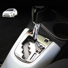 цена на SUS304 Stainless Steel Shift Knob Panel Garnish Trim Cover for Toyota Prius C AQUA Right-Hand Driving Model