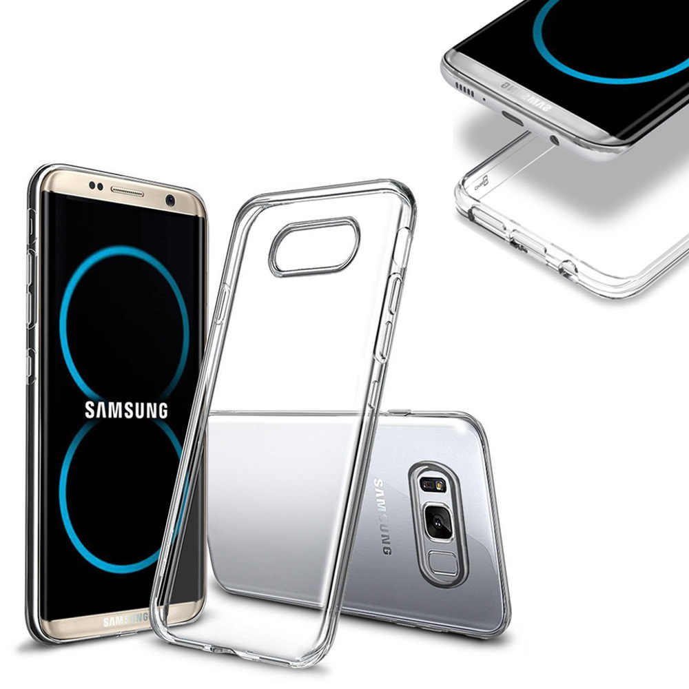 Ultra Thin Transparent Case For Samsung S8 S9 A7 2018 Soft TPU Silicone Case For Samsung Galaxy A50 S10 Plus S9 S7 Note 8 Note 9
