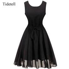Heißer verkauf scoop neck sleeveless über knie prom dress 2017 hohe qualität komfortable mode frauen dress schärpen short dress