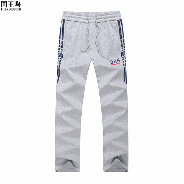 THEKINGBIRD Men pants thin teenage boy trousers 2017 new autumn male casual straight health cheap pants student plus size 4XL