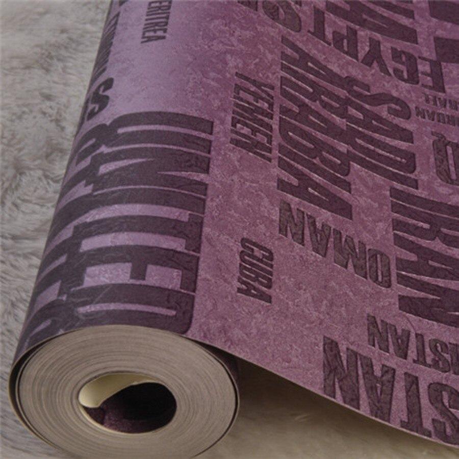 Beibehang alphabet TV fond papier peint rouleau imperméable papier peint maison fond papier peint papier peint papier de parede 3d
