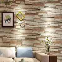 beibehang 3D stone Brick Pattern wall papers home decor Waterproof Wall Wallpaper roll vinyl flooring wallpapers for living room