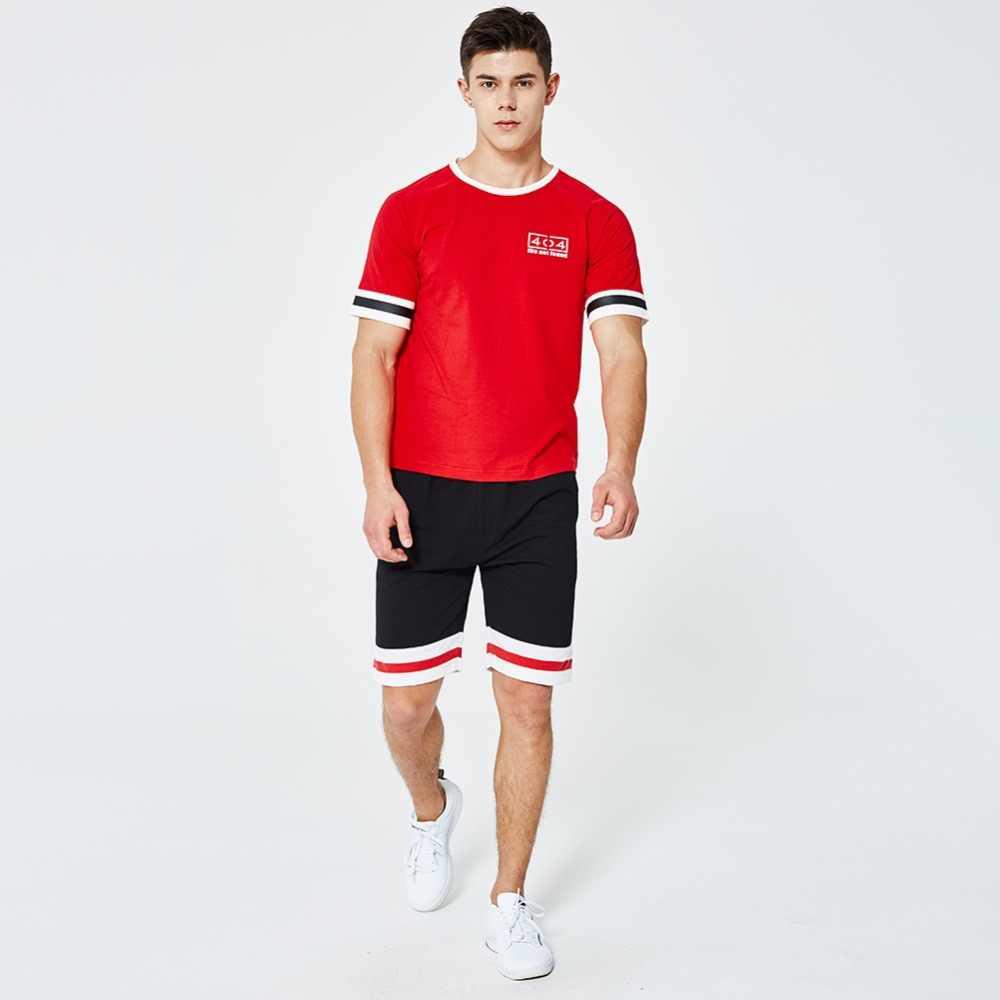 Летние для мужчин комплект футболки с коротким рукавом 2 шт. Топы Корректирующие + шорты для женщин Костюм спортивный наборы ухода за кожей
