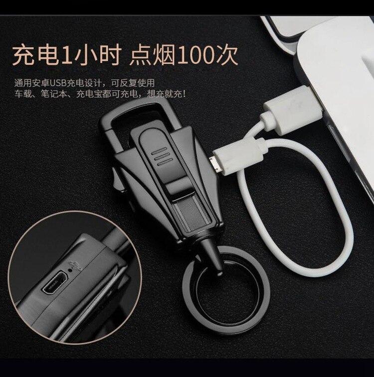 Nuevo Cigarro Cigarrillo Electrónico Encendedor Recargable USB Creativo Llavero
