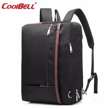 CoolBELL Convertible Backpack Shoulder bag Messenger Bag Laptop Backpack Multi-functional Travel Bag Fits 17.3 Inch Laptop laptop bag