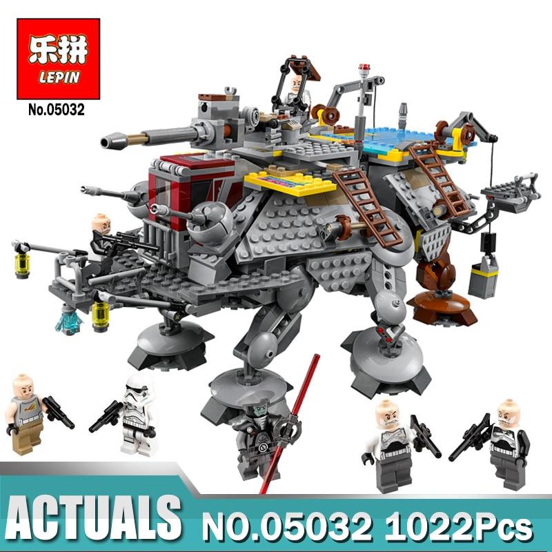 Lepin 05032 Star Series Wars les AT-TE du capitaine Rex blocs de construction Lepin garçons jouets cadeau compatible avec le modèle 75157
