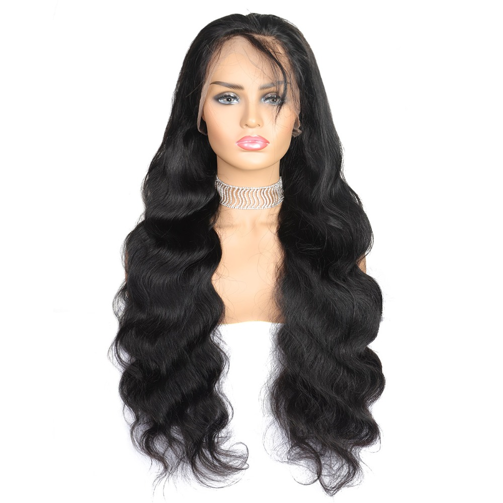 ishow 360 lace frontal human hair wigs body wave wigs
