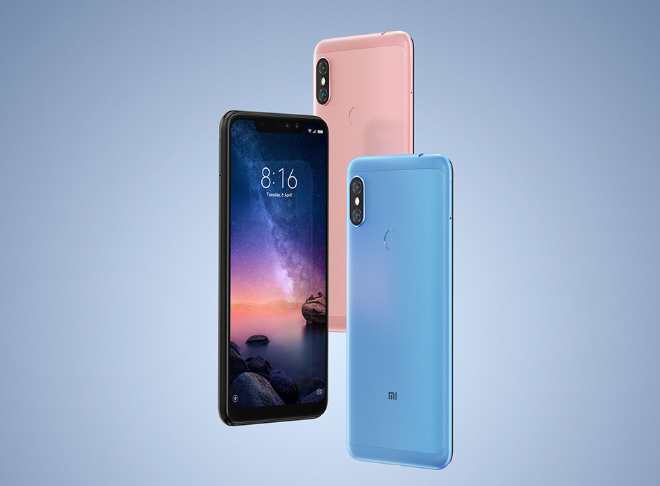 New Global Version Xiaomi Redmi Note 6 Pro 4GB RAM 64GB ROM Mobile Phone Snapdragon 636 Octa Core 6.26″ 19:9 Full Screen 4000mAh