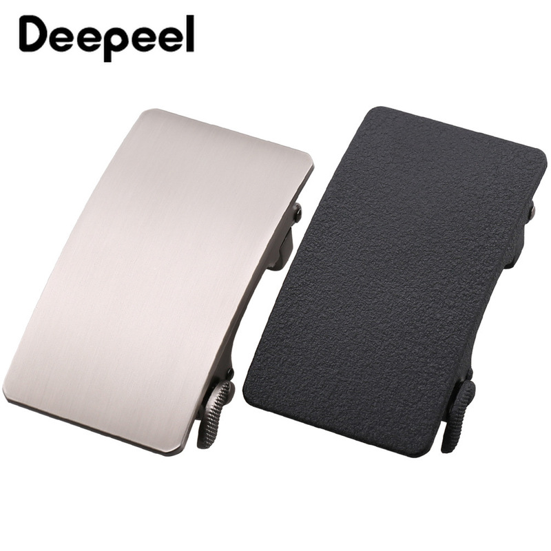 Deepeel Fashion Men Metal Belt Buckles Automatic Buckle For Belt 34-36mm Waistband Belt Head DIY Leathercraft Jeans Accessories
