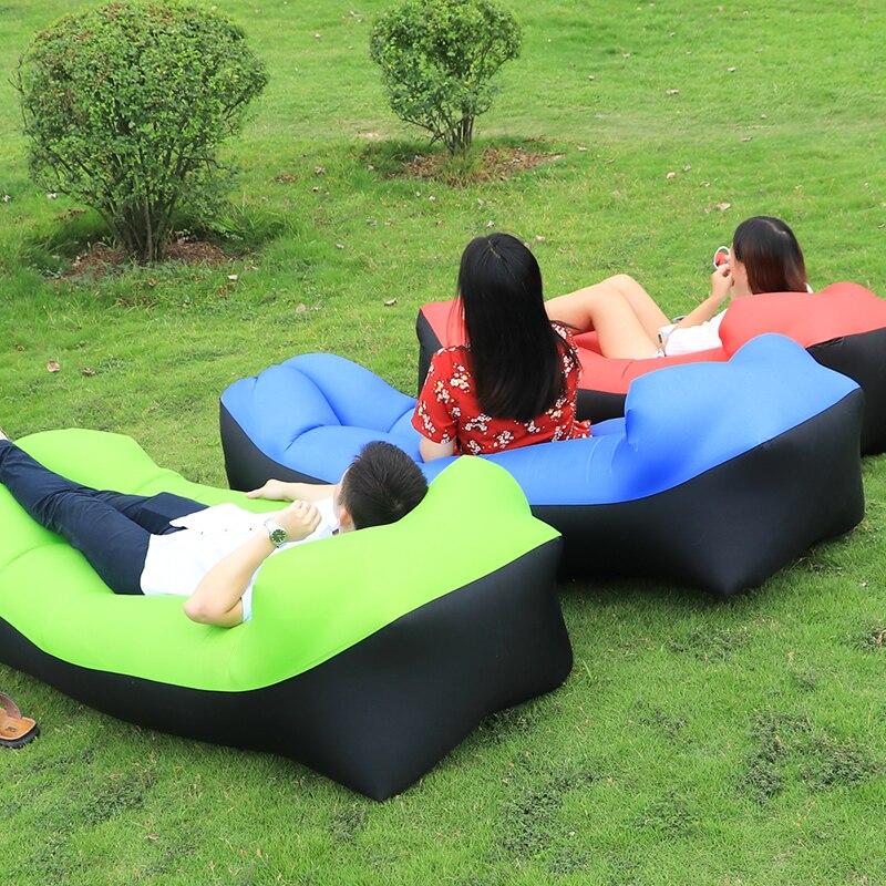 Lazy Lay Bag High Quality Fast Inflatable Lazy Sofa Lounger Air Sofa Unicorn Bean Bag Chair Outdoor Beach Lounger