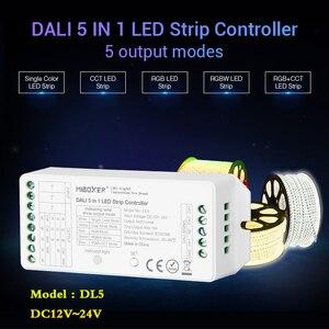 Image 2 - MiBOXER DL5 DALI 5 ב 1 LED רצועת בקר, DC 12 ~ 24V אנודה משותף חיבור, תואם שלט רחוק/DALI אוטובוס כוח Supplly