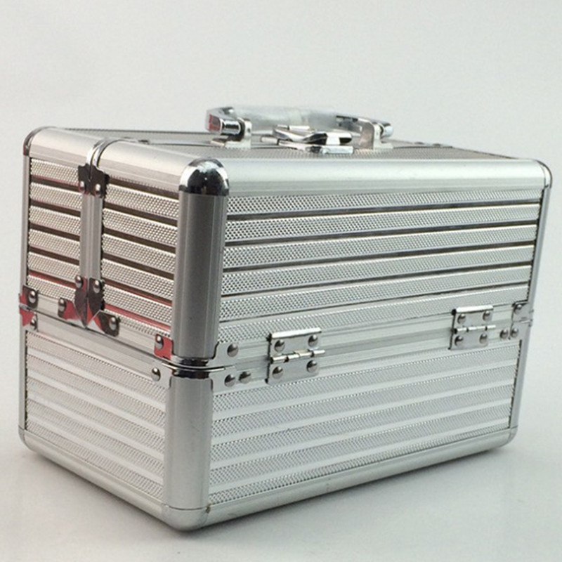 Aluminum frame ABS plate cosmetic case woman suitcase professional beauty nail box handbag multilayer travel luggage bag Toolbox цена
