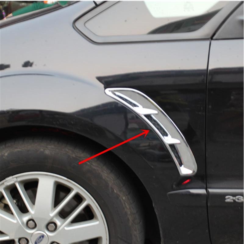Car Styling Chrome Fender Air Vent Cover Trim For Ford S-MAX SMAX 2007 2008 2009 2010 2011 2012 6pcs set car accessories matt abs front air vent frame cover trim for nissan xtrail x trail 2008 2009 2010 2011 2012 2013