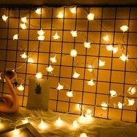 YINGTOUMAN 2pcs Lot USB Battery Rose Lamp String Lights Christmas Holiday Wedding Outdoor Decoration Fairy Lights