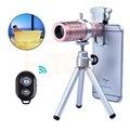 2017 universal clip teléfono con cámara de lentes kit 12x zoom lente para samsung s5 s6 telephototelescope iphone 7 bluetooth control remoto