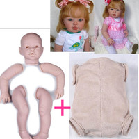 74CM big size silicone reborn baby dolls kit Toddler with cloth body Full vinyl arms and legs 29inch unpainted Mould for DIY toy