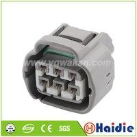 Frete grátis 2 conjuntos 6pin toyota farol arnês plug mg 641107-4 à prova dwaterproof água conector de cabo eletrônico MG641107-4