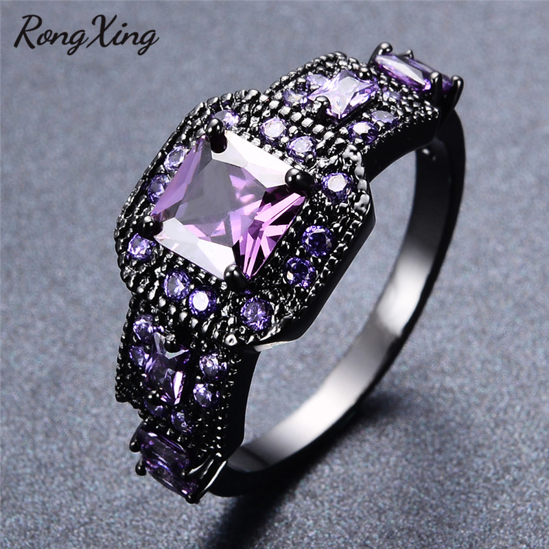 purple wedding ring rongxing stylish february birthstone rings for women 6921