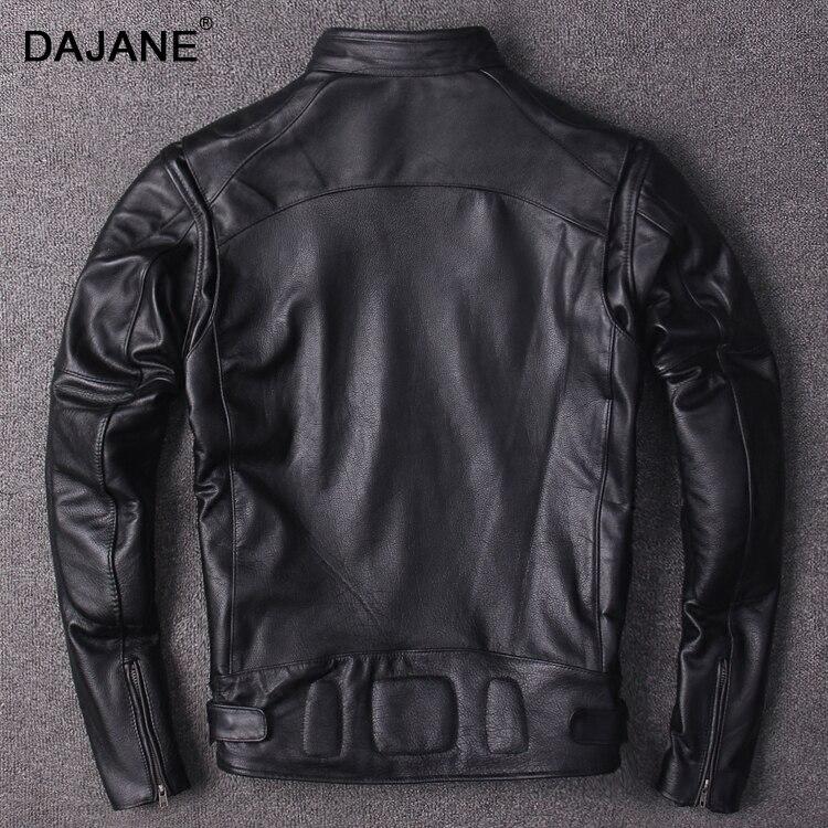 Vachette Manteau Tête Couche Vélo En Noir Dong Faveurs Veste Moteur Véritable Cuir Punk Réel Qiu Hommes Locomotive Vessie CxWrEQBode