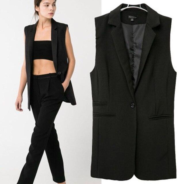 4bc0c4f63cd Nuevas mujeres capa del chaleco solo botón sin mangas chaqueta larga para  mujer jpg 640x640 Chalecos