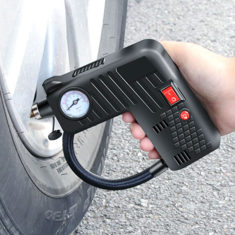 Multifunctional 3M Portable 12V 7A Electric Air Compressor Car Bike Tire Auto Tyre Pump Inflator Inflatable Pump Браслет