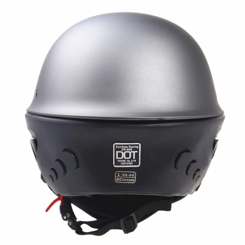 DOT New Arrivew casco de motocicleta cascos de medio rostro de motocicleta con máscara desmontable - 4